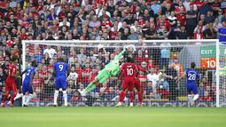 Chelsea mampu unggul lebih dahulu melalui sundulan Kai Havertz di menit ke-22. (Foto: AP/Mike Egerton)