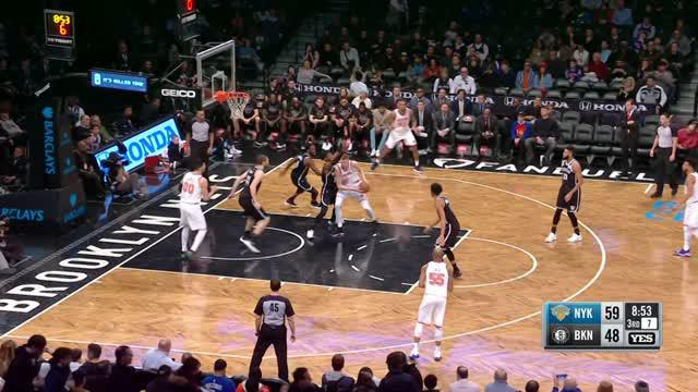 Berita video game recap NBA 2017-2018 antara New York Knicks melawan Brooklyn Nets dengan skor 119-104.