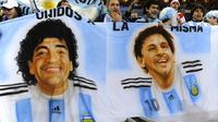 Legenda Argentina itu menilai Messi tak pantas meraih gelar pemain terbaik Piala Dunia. (AFP/Daniel Garcia)