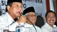 Kedatangan Prabowo ke kantor PKS kali ini merupakan salah satu upaya untuk menggalang kekuatan besar menghadapi pemilihan presiden 9 Juli 2014,Jakarta, (17/5/2014). (liputan6.com/Johan Tallo)