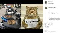 Berbagai hal bisa dijadikan Meme menarik, tidak terkecuali yang berkaitan dengan otomotif. (Instagram @harisnesia)