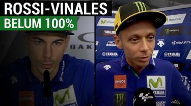 Berita video komentar duo pebalap Movistar Yamaha, Valentino Rossi dan Maverick Vinales, sebelum sesi latihan bebas untuk balapan MotoGP Italia musim 2017. Rossi dan Vinales sama-sama mengaku belum 100 persen. Namun, soal persentase tersebut masing-m...