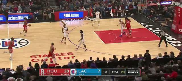 Berita video game recap NBA 2017-2018 antara Houston Rockets melawan LA Clippers dengan skor 105-92.