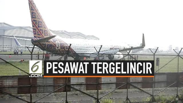 Pesawat Malindo Air tergelincir di Bandara Husein Sastranegara, Bandung, Jawa Barat. Seluruh awak dan penumpang pesawat langsung di evakuasi, penernbangan dari dan ke bandara Husein Sastranegara dihentikan sementara.