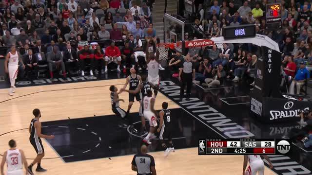 Berita video game recap NBA 2017-2018 antara Houston Rockets melawan San Antonio Spurs dengan skor 102-91.