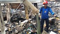 Kebakaran Pasar Mandiraja, Banjarnegara, Jawa Tengah. (Foto: Liputan6.com/Muhamad Ridlo)