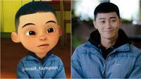 Karakter Upin Ipin jadi seleb Korea (Sumber: Instagram/mail_tampan_)