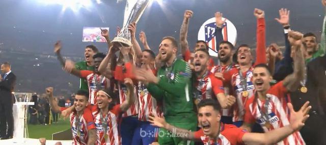 Atletico Madrid menjuarai  Liga Europa 2017-2018 setelah berpesta tiga gol tanpa balas atas Marseille di laga final yang Madrid menjuarai  Liga Europa 2017-2018 setelah berpesta tiga gol tanpa balas atas Marseille di laga final yang digelar di Groupa...