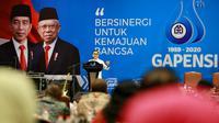 Ketua Umum Asosiasi Pemerintah Kabupaten Seluruh Indonesia (Apkasi) Abdullah Azwar Anas dalam Rapimnas Gapensi di Jakarta, Rabu (29/1/2020).