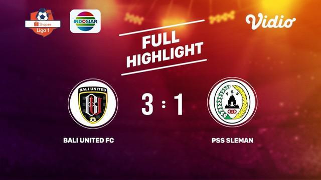 Laga lanjutan Shopee Liga 1, Bali United FC VS PSS Sleman berakhir  3-1 #shopeeliga1 #Bali United FC #PSS Sleman