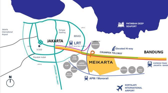 Kota Meikarta ini berada di lokasinya yang sangat strategis.