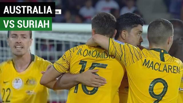 Berita video highlights Piala Asia 2019 antara Australia melawan Suriah yang berakhir dengan skor 3-2, Al-Ain, Uni Emirat Arab, Selasa (15/1/2019).
