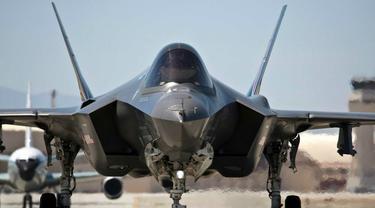 Jet tempur siluman F-35 besutan Amerika Serikat (AP/Lockheed Martin)