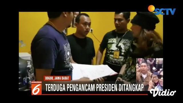 Polisi tangkap Hermawan Susanto, pemuda viral yang mengancam penggal kepala Presiden Jokowi.