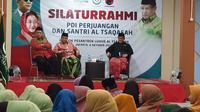 Sekjen DPP PDIP Hasto Kristiyanto mendatangi pesantren binaan Ketua Umum PBNU Said Aqil Siradj, Selasa (8/10/2019 (Liputan6.com/ Muhammad Radityo Priyasmoro)