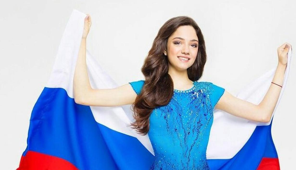 Evgenia Medvedeva merupakan seorang skater tunggal putri asal Rusia yang berhasil memenangkan kejuaraan dunia Junior dan Senior secara berturut-turut. (Instagram/jmedvedevaj).