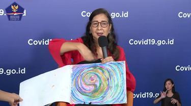 Penyintas COVID-19, Maria Darmaningsih mengungkapkan melukis dan mendengarkan lagu menjadi cara dirinya terlepas dari stres saat terkena virus corona (Tangkapan Layar Youtube BNPB)
