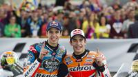 Marc Marquez dan Alex Marquez (AFP/Jaime Reina)