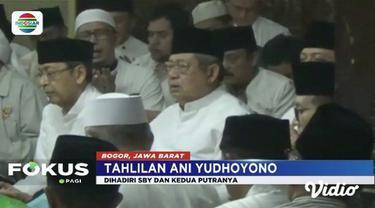 Susilo Bambang Yudhoyono menggelar tahlilan tiga hari wafatnya almarhumah Ani Yudhoyono.