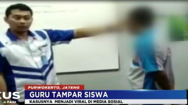 Komisi Perlindungan Anak Indonesia (KPAI) mendesak, agar guru yang  telah menampar 9 siswa  saat proses belajar mengajar, dituntut secara pidana.