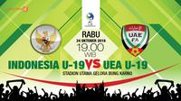 Indonesia u19 vs Uni Emirat Arab UEA u 19