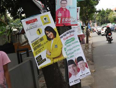 Masuk Masa Tenang Pemilu 2019, Sejumlah APK Masih Bertebaran