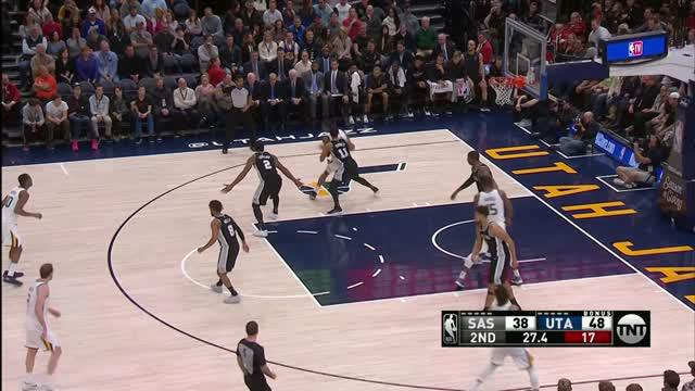 Berita video game recap NBA 2017-2018 antara Utah Jazz melawan San Antonio Spurs dengan skor 100-89.