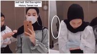 Video Penampakan di Toilet Ini Viral di TikTok, Bikin Merinding (sumber: TikTok/h4yabusatiktok)