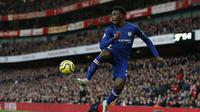 2. Callum Hudson-Odoi - Penampilan gemilang Callum di sisi kiri penyerangan Chelsea membuat pemain berusia 19 tahun ini sempat digadang-gadang bakal menjadi penerus Eden Hazard di lini serang The Blues. (AFP/Ian Kington)