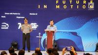 Wakil Presiden RI Jusuf Kalla memberikan sambutan dalam pembukaan pameran Gaikindo Indonesia Internasional Auto Show (GIIAS) 2019 di ICE BSD, Serpong, Tangerang, Kamis (18/7/2019). Tahun ini pameran otomotif terbesar di Indonesia tersebut mengusung tema Future in Motion. (Liputan6.com/Fery Pradolo)