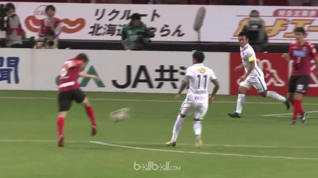 Consadole Sapporo sebagai tuan rumah gagal membendung Kashima Antlers setelah kalah 1-2. This video is presented by Ballball.