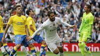 Isco merayakan gol ke gawang Las Palmas (Reuters)