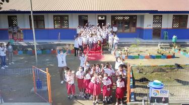 BRI membantu renovasi SD Negeri Fatukmetan yang berlokasi di Kelurahan Kenebibi, Kecamatan Kakuluk Mesak, Kabupaten Belu, NTT. (Dok BRI)