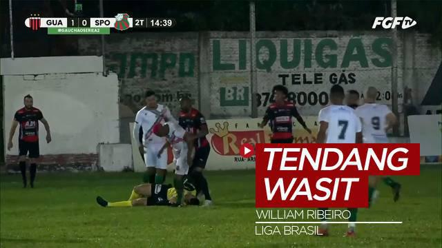 Berita Video, Pemain Brasil Ini Ditangkap Polisi usai Menendang Wasit di Lapangan