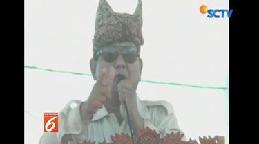 Pertama kali kampanye di Padang, Sumatera Barat, Prabowo menyatakan memilih pada Pemulu 2019 bukti kepedulian pada generasi mendatang.