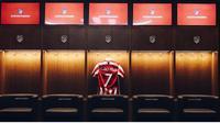 Jersey Joao Felix telah dipamerkan oleh Atletico Madrid. (Twitter Atletico de Madrid).
