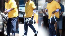 Tampang terbaru yang dilansir dari Dailymail terlihat Mr.T mengenakan kaos kuning dan topi (Dailymail)