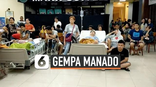 Gempa yang terjadi di Maluku Utara dan sekitarnya dirasakan warga Manado Sulawesi Utara. Sejumlah warga berhamburan keluar dari sebuah rumah sakit di Manado saat djguncang gempa Magnitudo 7,1.