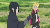 Boruto dan Sasuke dalam film Boruto: Naruto the Movie. (Pierrot)