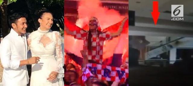 Video hit kali ini menghadirkan berita dari pernikahan Dimas Anggara dan Nadine Chandrawinata, penampakan hantu naik eskalator, dan euforia 4 negara yang lolos semifinal Piala Dunia 2018.