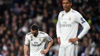 Bek Real Madrid, Dani Carvajal, mengakui jika Ajax Amsterdam layak lolos ke perempat final Liga Champions musim ini. (AFP/GABRIEL BOUYS)