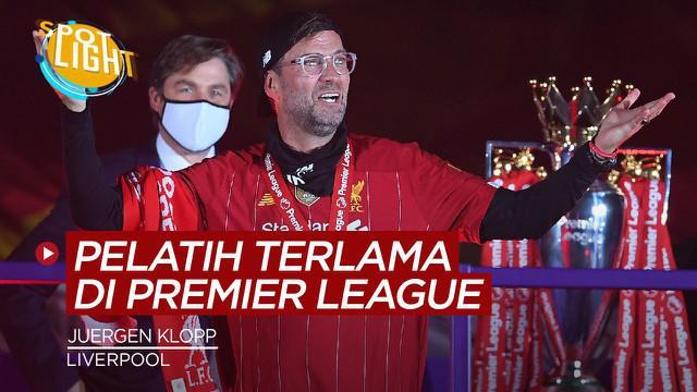 Berita video spotlight kali ini akan membahas tentang empat pelatih terlama di Premier League saat ini, Jurgen Klopp di Liverpool salah satunya.
