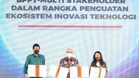 Peruri bersama dengan BPPT melakukan penandatanganan nota kesepahaman terkait Pengkajian dan Penerapan Teknologi di Bidang Solusi Digital pada Instansi Pemerintah (dok: Peruri)