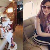 Ternyata, kegemaran menaiki jet pribadi tak hanya dimiliki Syahrini saja.