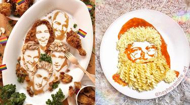Pria Ini Bikin Ilustrasi Wajah dari Makanan, 7 Hasilnya Menakjubkan