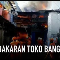 Diduga akibat lalai mematikan kompor saat meninggalkan rumah sebuah bengkel mobil dan toko material bangunan terbakar di kawasan Cilandak