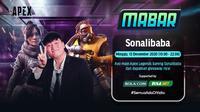 Main bareng Apex Legends bersama Sonalibaba, Minggu (13/12/2020) pukul 19.00 WIB dapat disaksikan melalui platform Vidio, laman Bola.com, dan Bola.net. (Dok. Vidio)