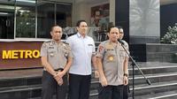 Kapolda Metro Jaya menggelar jumpa pers, Senin (18/11/2019). (Merdeka.com/ Tri Yuniwati Lestari)