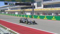 Pebalap Mercedes, Nico Rosberg, mengungguli Daniel Ricciardo dan Lewis Hamilton pada sesi latihan bebas GP AS, Sabtu (22/10/2016) dini hari WIB. (Bola.com/Twitter/F1)