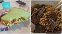 Cara unik makan mi instan (Sumber: Instagram/kegoblogan.unfaeduh/sejiwtinja)
